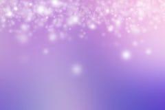 Розовая и фиолетовая предпосылка пастели снега Стоковые Фото