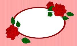 Розовая иллюстрация рамки Стоковое Изображение RF