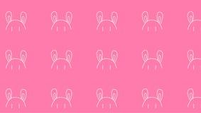 Розовая картина ушей зайчика иллюстрация штока