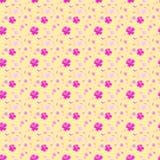 Розовая картина цветков Сакуры безшовная Стоковая Фотография RF