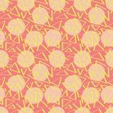 Розовая картина abstracciones с кругами Стоковые Изображения RF