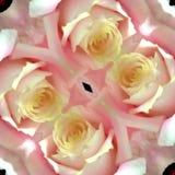 Розовая карточка влюбленности калейдоскопа Стоковые Фото