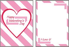 Розовая карточка дня валентинок Стоковое Изображение RF