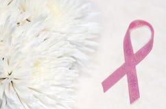 Розовая карточка тесемки Стоковая Фотография