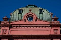 Розовая Каса Rosada дома также известное как Дом правительства Каса de Gobierno стоковое фото