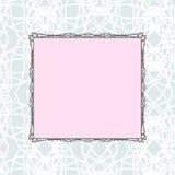 Розовая квадратная винтажная стилизованная рамка Стоковые Изображения RF