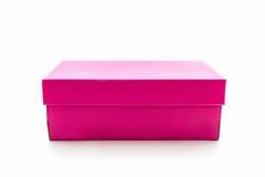 Розовая коробка ботинка на белой предпосылке с путем клиппирования Стоковое фото RF