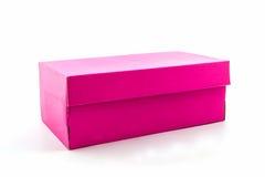 Розовая коробка ботинка на белой предпосылке с путем клиппирования Стоковое Изображение RF