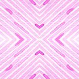 Розовая красная геометрическая акварель Чувствительная безшовная картина Нашивки нарисованные рукой Текстура щетки самомоднейше иллюстрация вектора