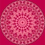 Розовая кружевная круглая рамка Стоковые Фотографии RF
