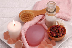 розовая милая спа 03 Стоковые Фотографии RF
