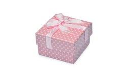 Розовая мини подарочная коробка стоковое фото rf