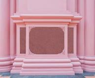 Розовая мраморная плита на розовой стене Стоковые Изображения RF