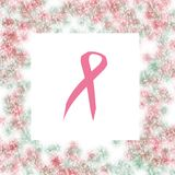 Розовая обрамленная тесемка Стоковые Фото