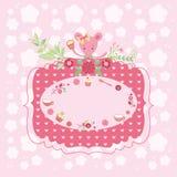 Розовая поздравительная открытка дня рождения Стоковые Фото