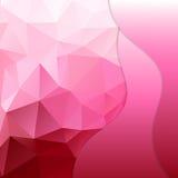Розовая полигональная предпосылка мозаики Стоковые Изображения RF