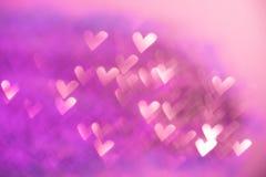 Розовая праздничная предпосылка дня валентинки Стоковая Фотография