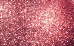 Розовая предпосылка золота на день валентинок Стоковые Изображения RF