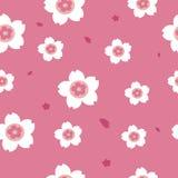Розовая предпосылка картины Сакуры безшовная Стоковые Фото