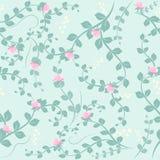 Розовая предпосылка картины цветка и лист безшовная иллюстрация вектора