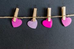 Розовая предпосылка сердец дня валентинок Стоковая Фотография