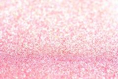 Розовая предпосылка яркого блеска с селективным фокусом Стоковая Фотография RF