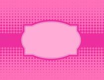 Розовая предпосылка halftone иллюстрация штока