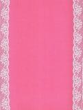 Розовая предпосылка с границами шнурка; Стоковое Изображение RF