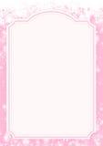Розовая предпосылка бумаги зимнего отдыха Стоковое фото RF