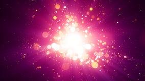 Розовая предпосылка светлого центра частиц Стоковое Изображение RF