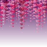 Розовая предпосылка сердец вектора Стоковые Изображения
