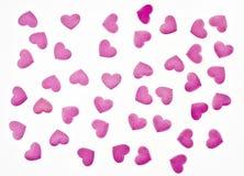 розовая предпосылка сердец для желать карточки Стоковые Фотографии RF