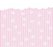 Розовая предпосылка с звездами Стоковые Фото