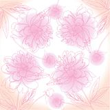 Розовая предпосылка с пионом иллюстрация штока