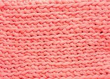 Розовая предпосылка текстуры картины weave Стоковые Изображения