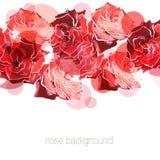 Розовая предпосылка. Флористическая абстрактная картина иллюстрация штока