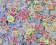 Розовая предпосылка цветка Стоковые Фото