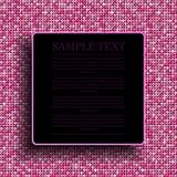 Розовая предпосылка sequin Квадратная рамка 10 eps Стоковая Фотография RF