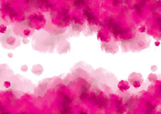 Розовая предпосылка watercolour стоковые фото