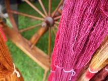 Розовая пряжа с закручивая колесом Стоковые Фото