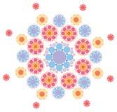 розовая пурпуровая снежинка Стоковые Изображения RF