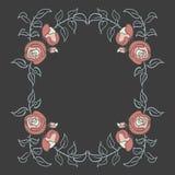 Розовая рамка на темной предпосылке Стоковые Фотографии RF