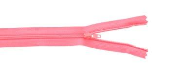 Розовая раскрытая часть застежки -молнии Стоковая Фотография RF