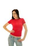 розовая рубашка t стоковые фото