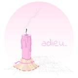 Розовая свечка Стоковые Фото