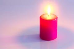 Розовая свечка Стоковые Изображения RF