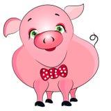 Розовая свинья Стоковое Изображение