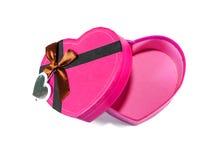 Розовая Сердц-форменная коробка Стоковые Изображения RF