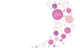 Розовая сияющая предпосылка вектора диамантов Стоковое Изображение RF