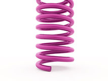 Розовая спиральная представленная строка изолированной Стоковое Фото